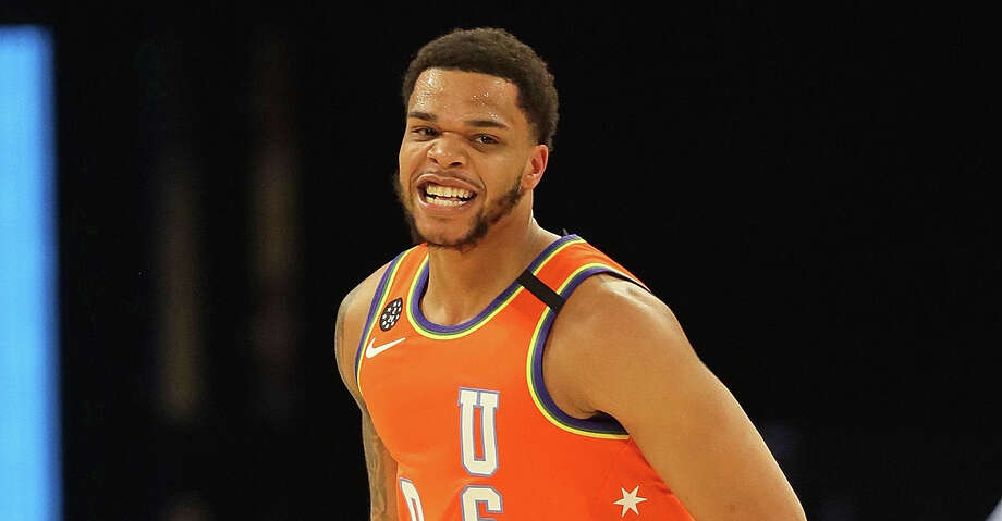 CHICAGO, ILLINOIS - FEBRUARY 14: Miles Bridges #0 of the USA reacts after dunking against the World at the United Center on February 14, 2020 in Chicago, Illinois. The USA defeated the World 151-131. NOTE TO USER: User expressly acknowledges and agrees that, by downloading and or using this photograph, User is consenting to the terms and conditions of the Getty Images License Agreement. (Photo by Jonathan Daniel/Getty Images) Photo: Jonathan Daniel/Getty Images
