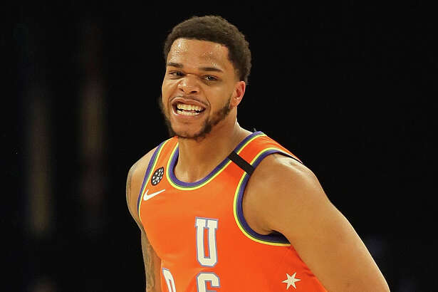 CHICAGO, ILLINOIS - FEBRUARY 14: Miles Bridges #0 of the USA reacts after dunking against the World at the United Center on February 14, 2020 in Chicago, Illinois. The USA defeated the World 151-131. NOTE TO USER: User expressly acknowledges and agrees that, by downloading and or using this photograph, User is consenting to the terms and conditions of the Getty Images License Agreement. (Photo by Jonathan Daniel/Getty Images)