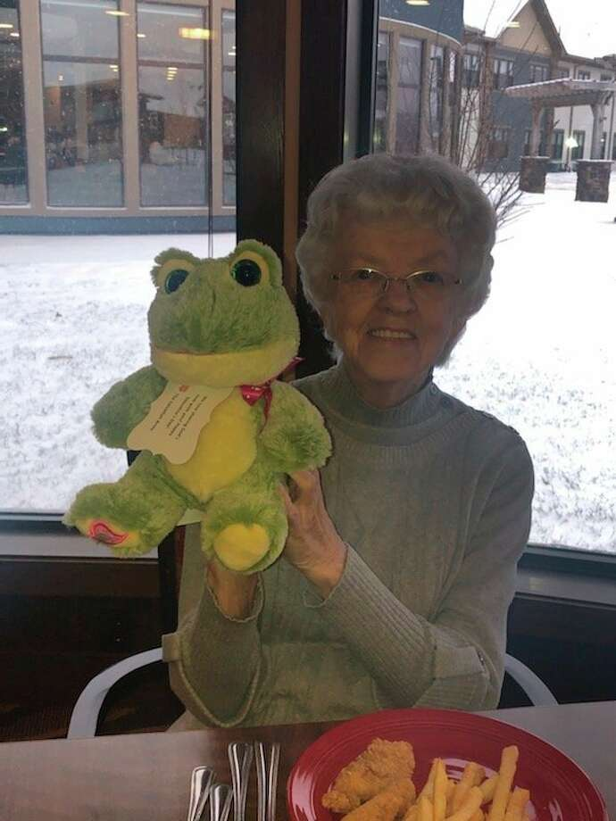 Members of the Salvation Army's after school program surprised residents of Primrose with stuffed animals in a recent visit. (Photo provided)