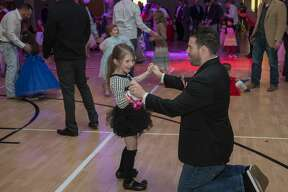 Dancing and fun filled the room 02/14/2020 night at a Valentine Day daddy-daughter dance at Golf Course Road Church of Christ. Tim Fischer/Reporter-Telegram