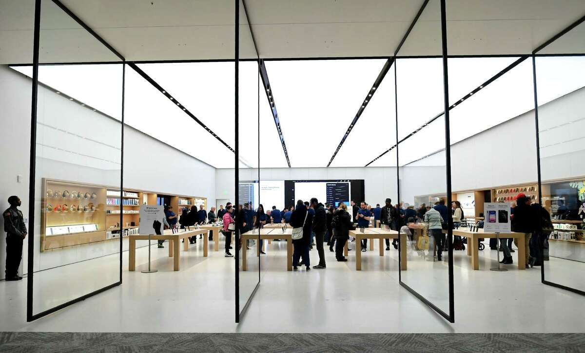 Apple opens a new store at the SoNo Collection mall Saturday, February 15, 2020, in Norwalk, Conn.