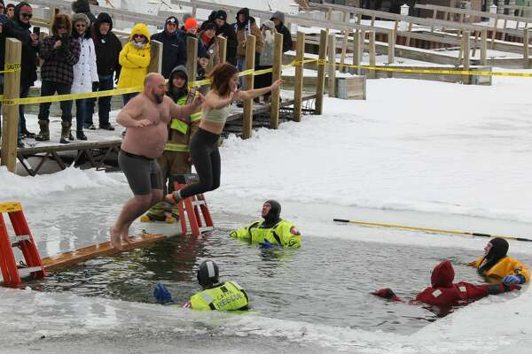 People come from far and wide to have fun at the Caseville Marina for Shanty Days. Aside from the Polar Bear Dip, people ice fished, played broom ball, participated in races, and ate some chili.