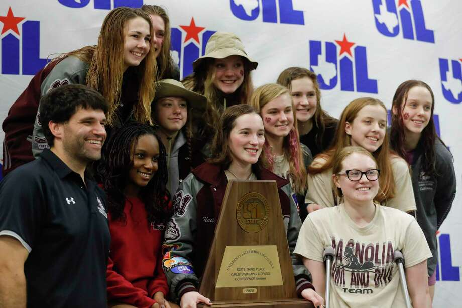 Magnolia finished third overall in during the UIL State Swimming & Diving Championships at the Lee & Joe Jamail Texas Swimming Center, Saturday, Feb. 15, 2020, in Austin. Photo: Jason Fochtman, Houston Chronicle / Staff Photographer / Houston Chronicle © 2020