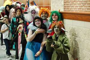 Cosplay fans enjoy the activities at BrazCon 2020 Saturday, Feb. 15 at Manvel High School.