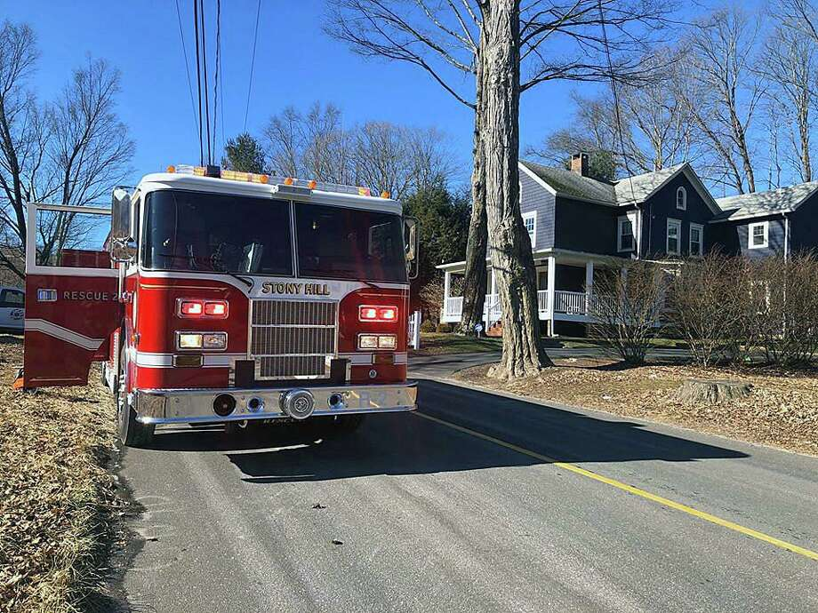 Firefighters quickly contained a fire at a home on Reservoir Street in Bethel, Conn., on Saturday, Feb. 15, 2020. Photo: Contributed Photo / Stony Hill Volunteer Fire Company