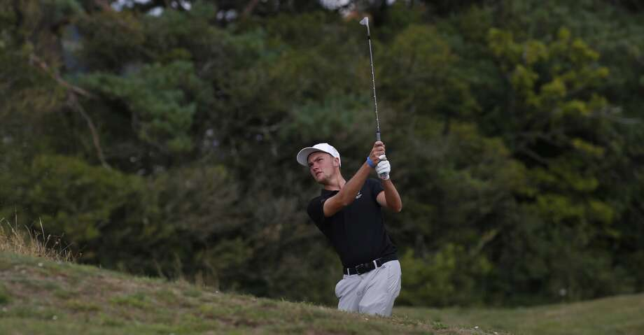 BURRY PORT, WALES - AUGUST 08: Joseph Pagdin of England in action during the afternoon singles of The Boys Home Internationals at Ashburnham Golf Club on August 8, 2019 in Burry Port, Wales. (Photo by Julian Herbert/R&A/R&A via Getty Images) Photo: Julian Herbert/R&A/R&A Via Getty Images