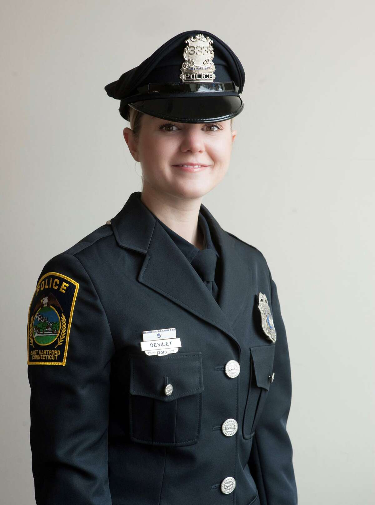 East Hartford Police Officer Courtney Desilet is a certified instructor of human trafficking investigations.