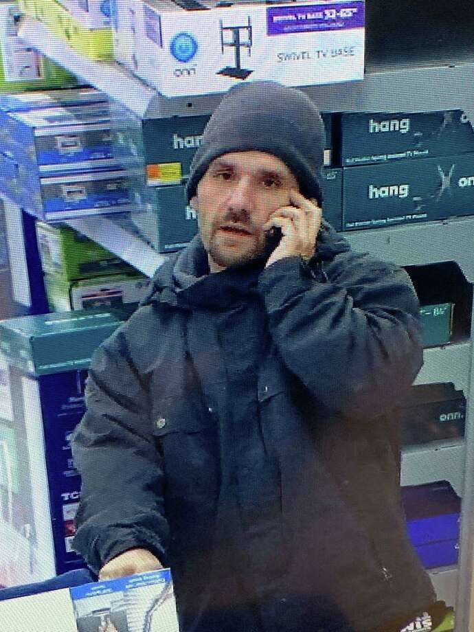 Police say this man took items from the Walmart in Naugatuck, Conn., on the morning of Saturday, Feb. 15, 2020. Photo: Contributed Photo / Naugatuck Police Department