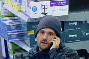 Police say this man took items from the Walmart in Naugatuck, Conn., on the morning of Saturday, Feb. 15, 2020.
