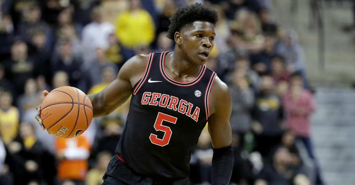 Georgia's Anthony Edwards brings the ball down the court during the first half of an NCAA college basketball game against Missouri Tuesday, Jan. 28, 2020, in Columbia, Mo. (AP Photo/Jeff Roberson)