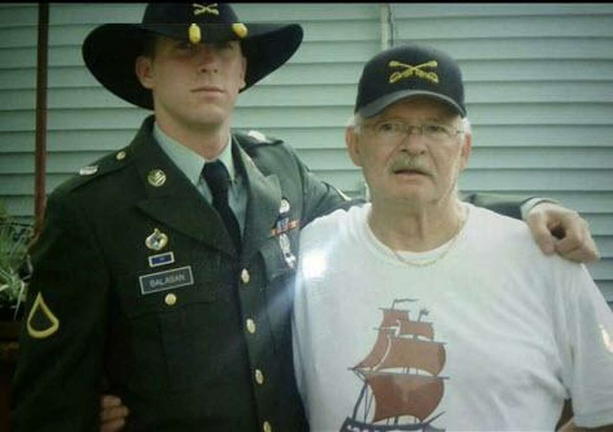 Aaron Balaban with his grandfather Charles Stephens in approximately 2005.