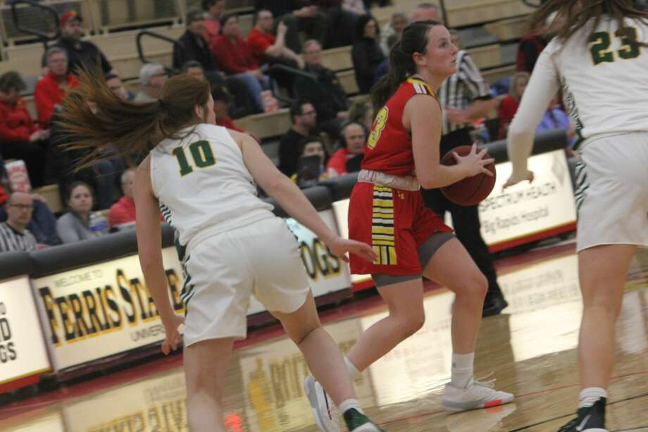 Ferris' women defeated Northern Michigan now has a two-game lead in the GLIAC North Division. Photo: John Raffel