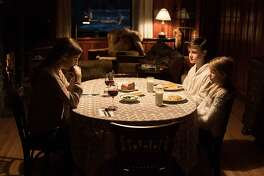 Riley Keough, Jaeden Martell, Lia McHugh in 'The Lodge.' (Bertrand Calmeau/Hammer Films/TNS)