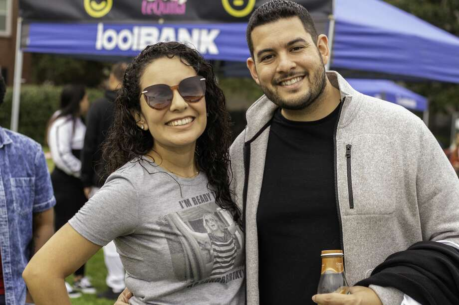 Thousands of people flocked to Guadalupe Plaza Park on Feb. 15, 2020, to attend the first-ever Taco X Tequila Fest. Photo: Katrina Martinez/Staff Photographer