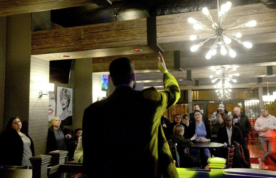 Democratic Party Chair candidate Paul Martin addresses the crowd during his campaign kick-off event at Rumors in Beaumont Wednesday, Jan. 22. Photo taken Wednesday, Jan. 22, 2020 Kim Brent/The Enterprise Photo: Kim Brent / The Enterprise / BEN