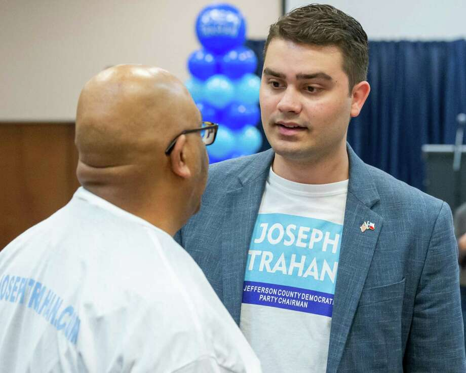 Joseph Trahan speaks to his supporters at his campaign kick-off party at the Compro Event Center on January 16, 2020. Fran Ruchalski/The Enterprise Photo: Fran Ruchalski/The Enterprise / 2019 The Beaumont Enterprise