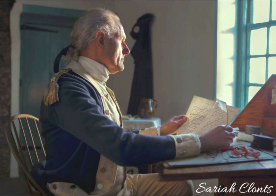 General George Washington (John Koopman III), will visit Milford on Saturday, Feb. 22. Photo: Contributed Photo