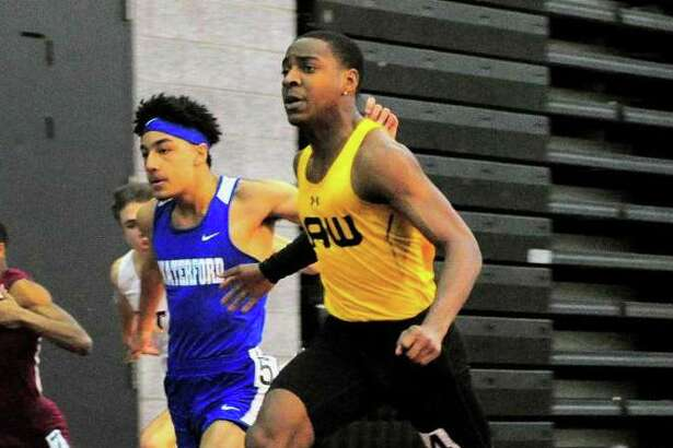 Law's Rayshon Jacons captured first in three events at the Class M indoor track championships.