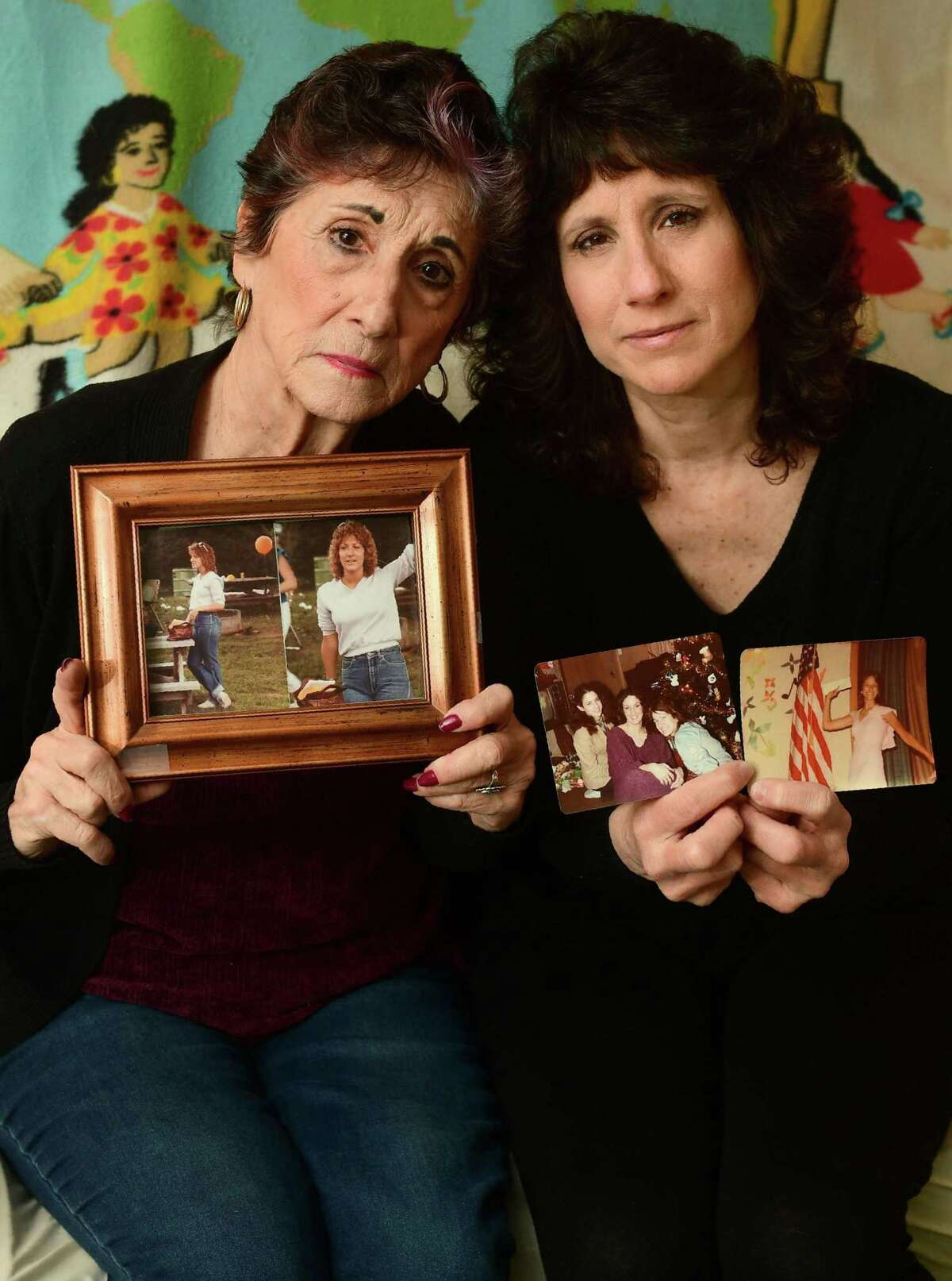 Mary Lou Grisanti and her daughter Gina Grisanti at Gina's home in Norwalk on Wednesday. After 35 years, the family of April Grisanti is still struggling to come to grips with her disappearance.
