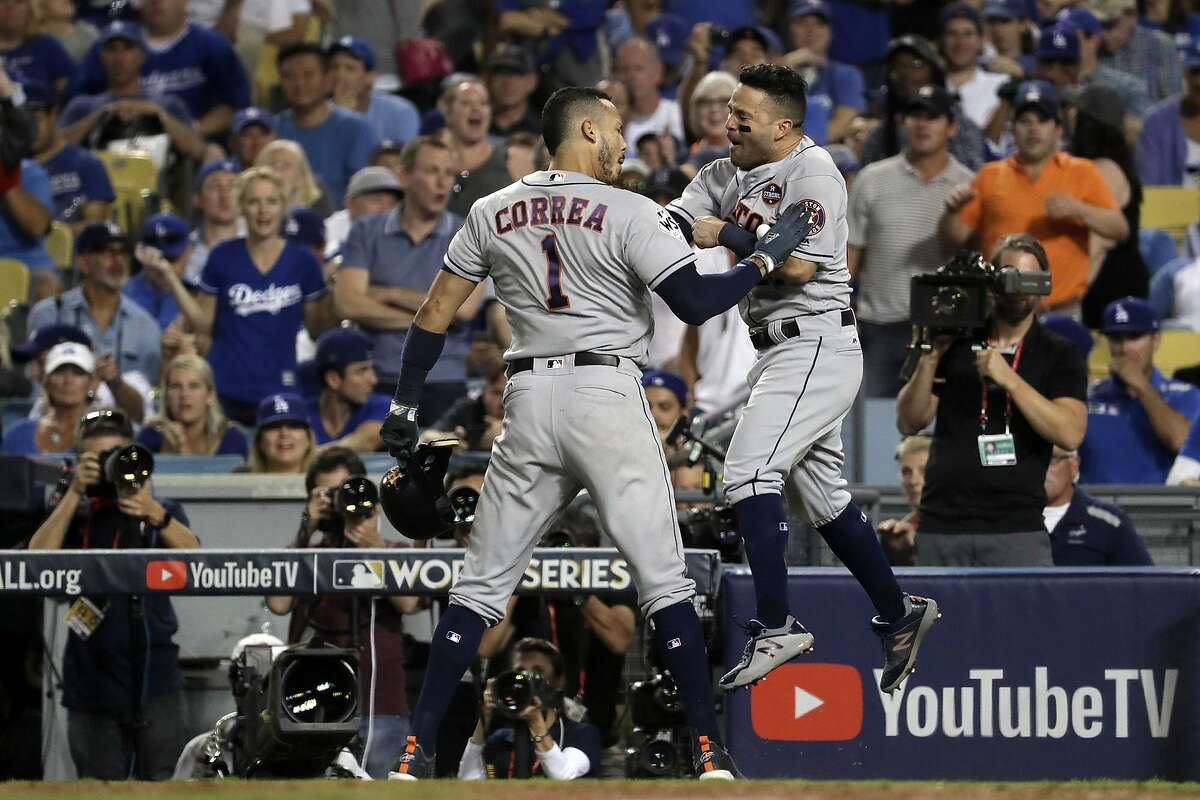 The 2017 Houston Astros The Astros are accused of using an elaborate system involving a trash can and video to steal signs from opponents and relay them to hitters throughout the 2017 season and playoffs. Houston, of course, beat the Yankees and Dodgers en route to winning the World Series that season.