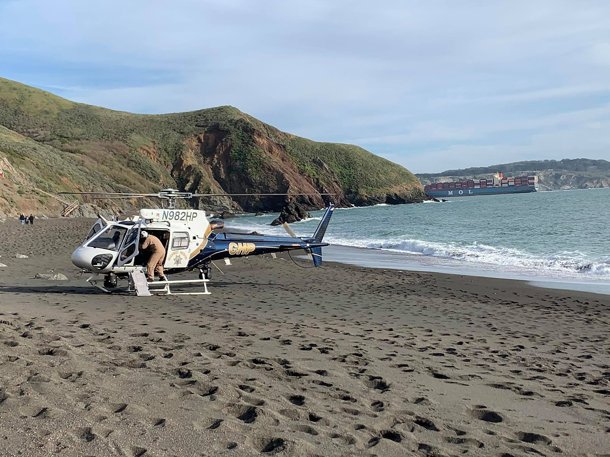 Man injured after plummeting down cliff in Marin Headlands