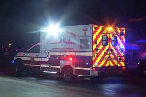 A woman was hospitalized after an alleged temper tantrum caused her to be hit by a car near the 1300 block of Zarzamora Street Sunday night.