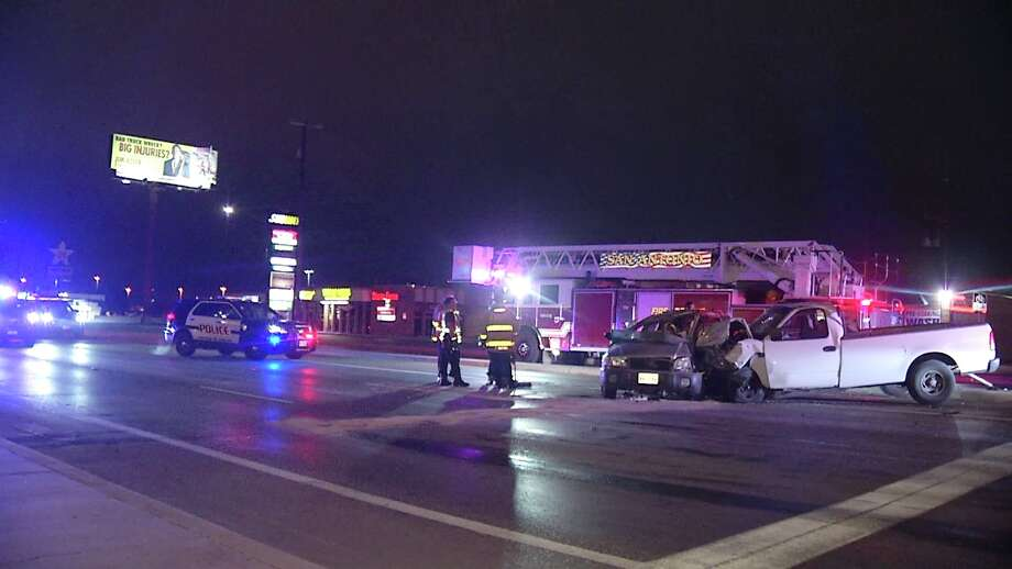 A 19-year-old woman has died after the driver of a white Ford F-150 ran a red light and crashed into her vehicle Monday morning on the West Side, according to San Antonio police. Photo: Ken Branca