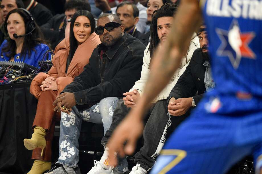 "The day after a tense political rally in South Carolina, rapper Kanye West accused his wife Kim Kardashian and mother-in-law Kris Jenner of trying to have him ""locked up."" Photo: Kevin Mazur/Getty Images"