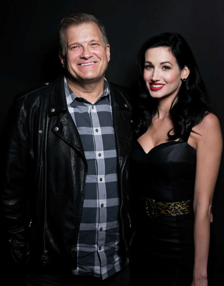 FILE: Drew Carey and Amie Harwick pose for The Artists Project at Rock To Recovery 5th Anniversary Holiday Party at Avalon on December 17, 2017 in Hollywood, California. Photo: Michael Bezjian/WireImage / 2017 Michael Bezjian