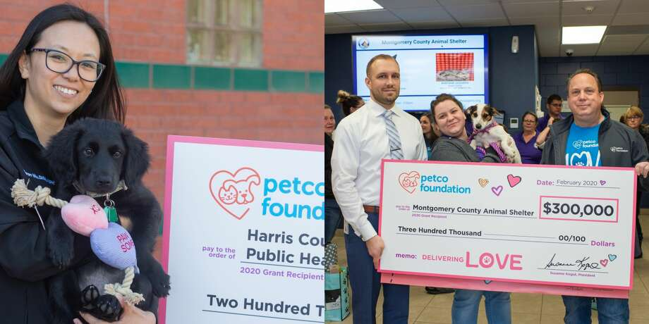 "The Harris County Animal Shelter received a $200,000 grant and the Montgomery County Animal Shelter received a $300,000  grant as part of the Petco Foundation's ""Love Changes Everything"" campaign on Valentine's Day. Photo: Courtesy Petco Foundation"