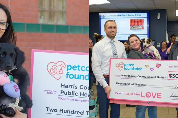"""The Harris County Animal Shelter received a $200 million grant and the Montgomery County Animal Shelter received a $300 million grant as part of the Petco Foundation's """"Love Changes Everything"""" campaign on Valentine's Day."""