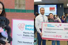 "The Harris County Animal Shelter received a $200 million grant and the Montgomery County Animal Shelter received a $300 million grant as part of the Petco Foundation's ""Love Changes Everything"" campaign on Valentine's Day."