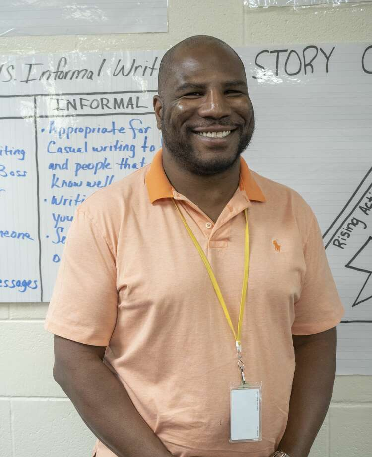 My'Ron McGee, 6th-grade ELAR teacher at Pease Communication and Technology Academy. 02/17/2020 Tim Fischer/Reporter-Telegram Photo: Tim Fischer/Midland Reporter-Telegram