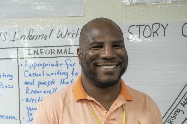 My'Ron McGee, 6th-grade ELAR teacher at Pease Communication and Technology Academy. 02/17/2020 Tim Fischer/Reporter-Telegram