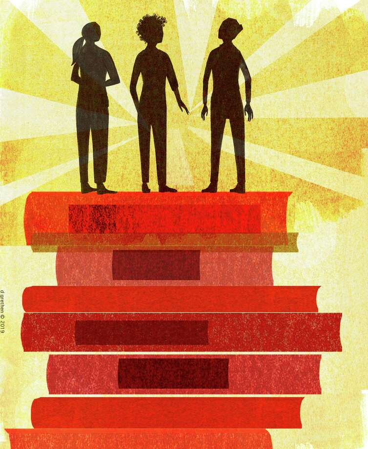 This artwork by Donna Grethen refers to the benefits of equal education for students from all types of backgrounds, and the need to encourage them to pursue higher education. Photo: Donna Grethen / Tribune Content Agency