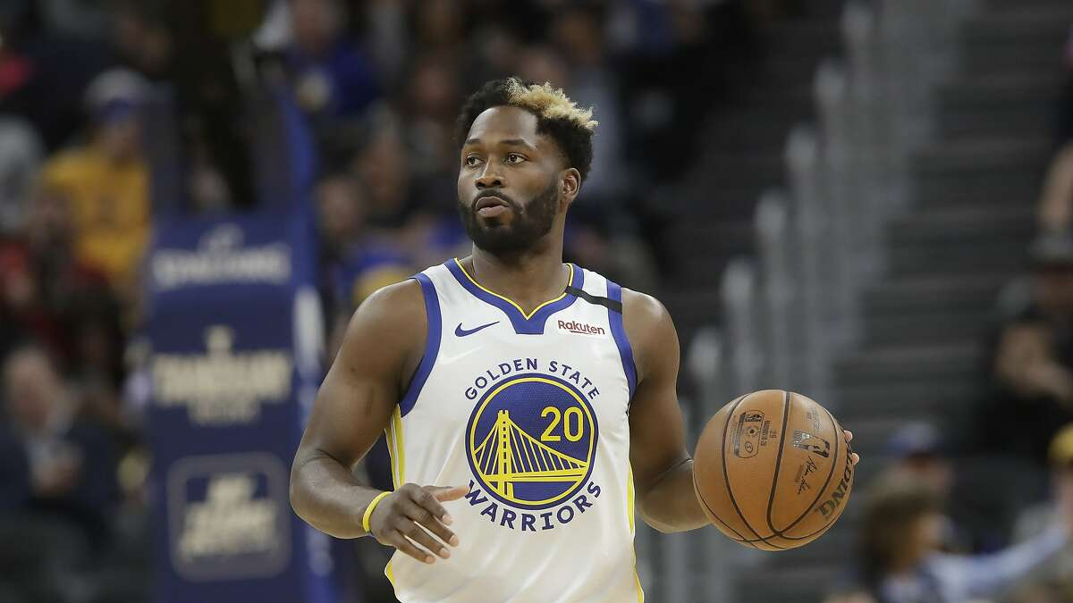 Golden State Warriors guard Jeremy Pargo (20) against the Miami Heat during an NBA basketball game in San Francisco, Monday, Feb. 10, 2020. (AP Photo/Jeff Chiu)