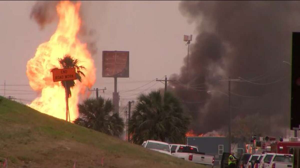 A natural gas line explosion in Corpus Christi temporarily shut down part of Interstate 37 and caused some nearby facilities at the Port of Corpus Christi to halt activities.