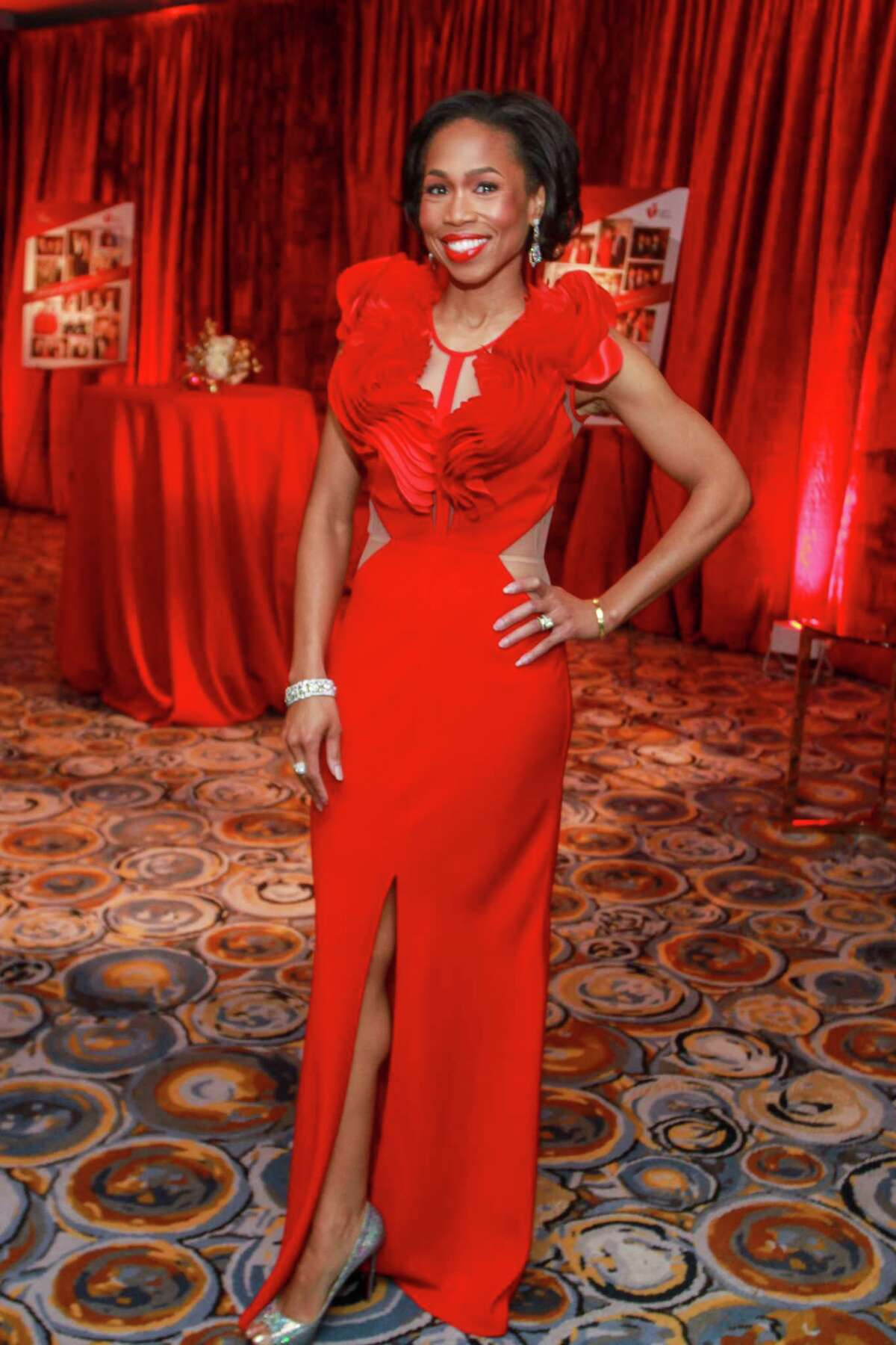 Roslyn Bazzelle Mitchell at the Heart Association's annual Heart Ball at the Hilton Americas Houston on February 15, 2020.