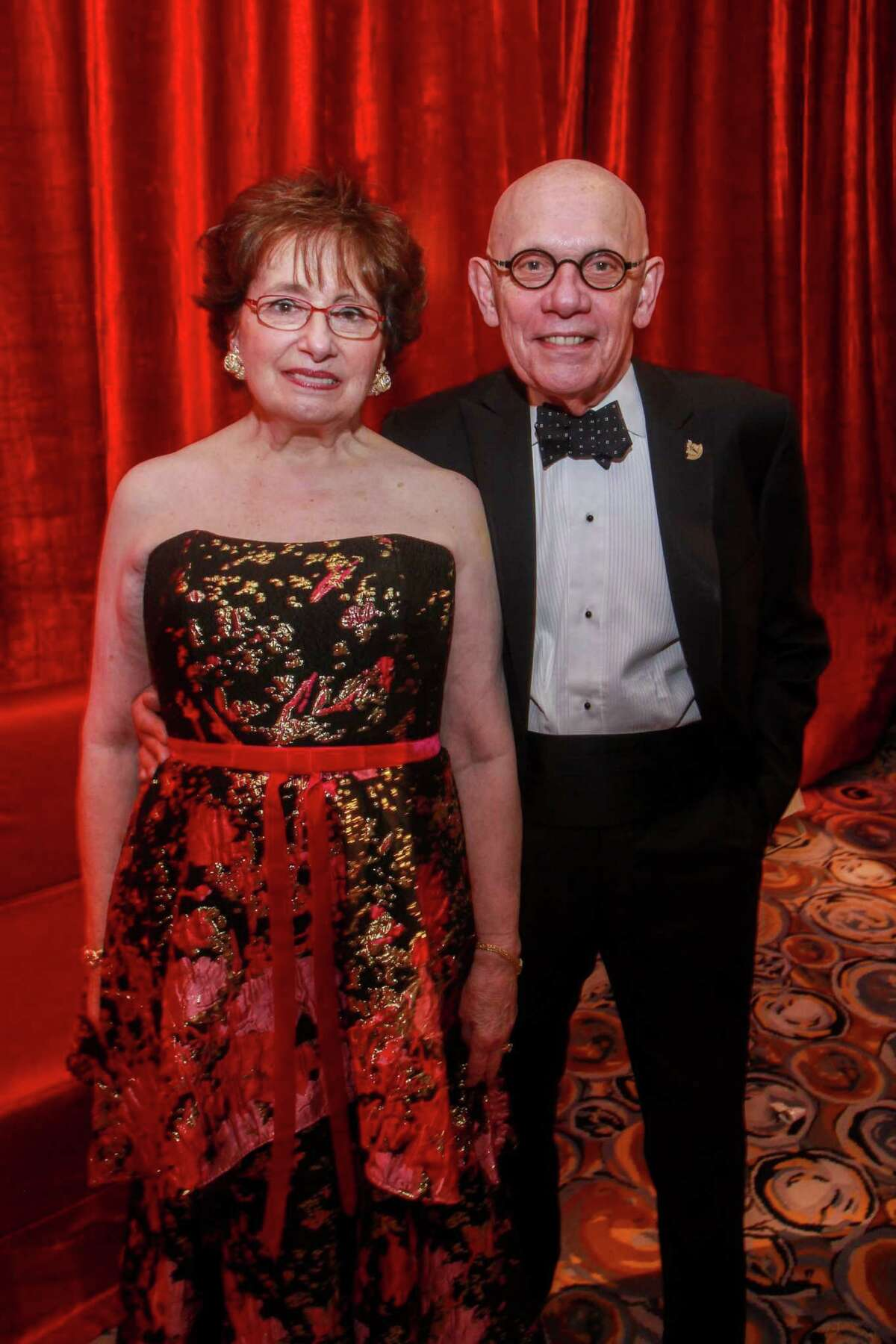 Chairs Beverly and Jim Postl at the Heart Association's annual Heart Ball at the Hilton Americas Houston on February 15, 2020.