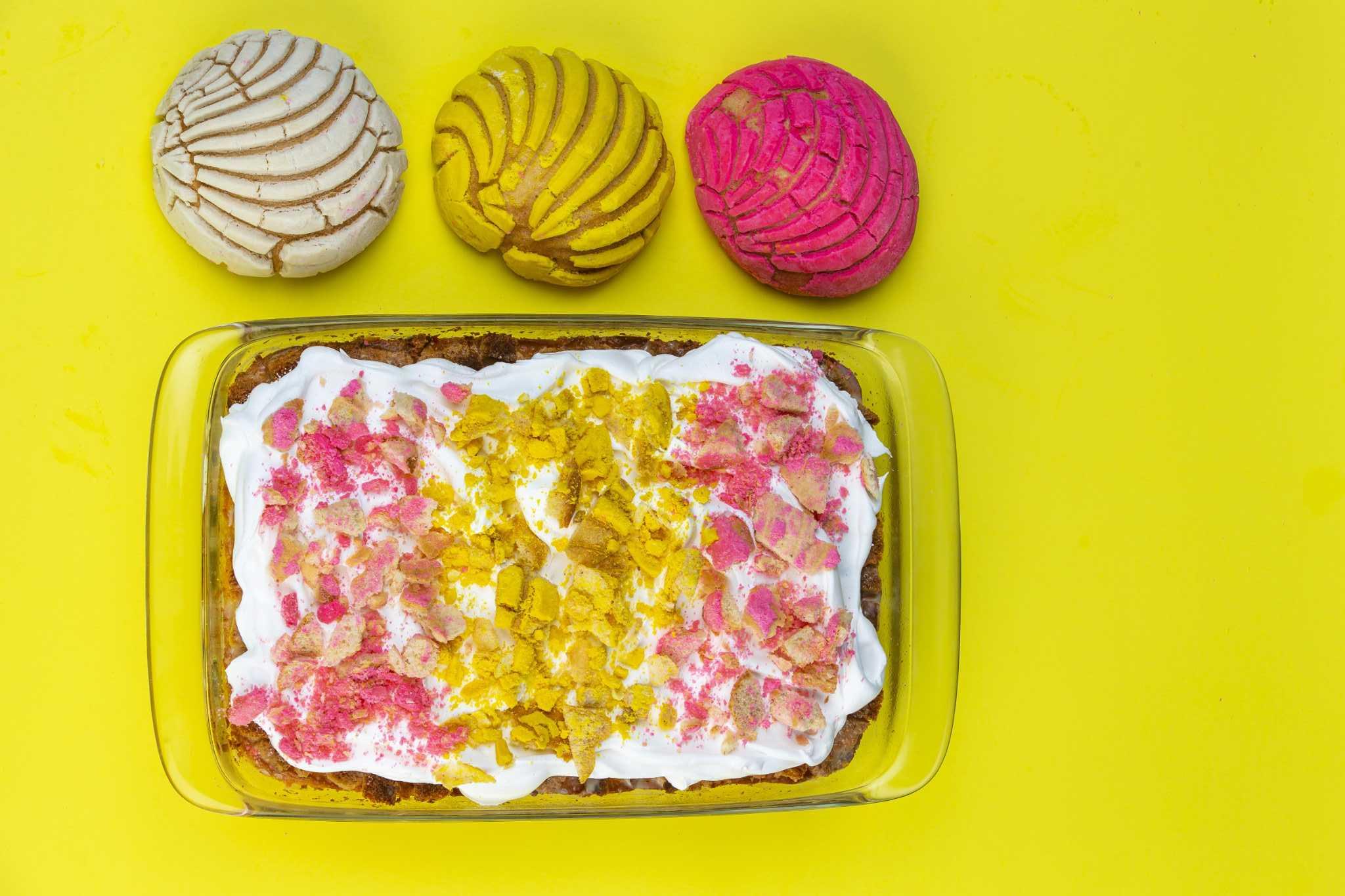 Recipe: Concha Tres Leches Cake