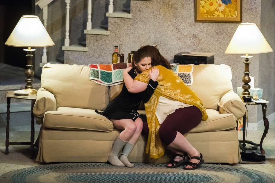 "Anna Stolz in the role of Jean Fordham, left, and Megan Applegate in the role of Barbara Fordham, right, act out a scene during a rehearsal for Midland Center for the Arts' production of ""August: Osage County"" Thursday, Feb. 13, 2020. (Danielle McGrew Tenbusch/for the Daily News) Photo: (Danielle McGrew Tenbusch/for The Daily News)"