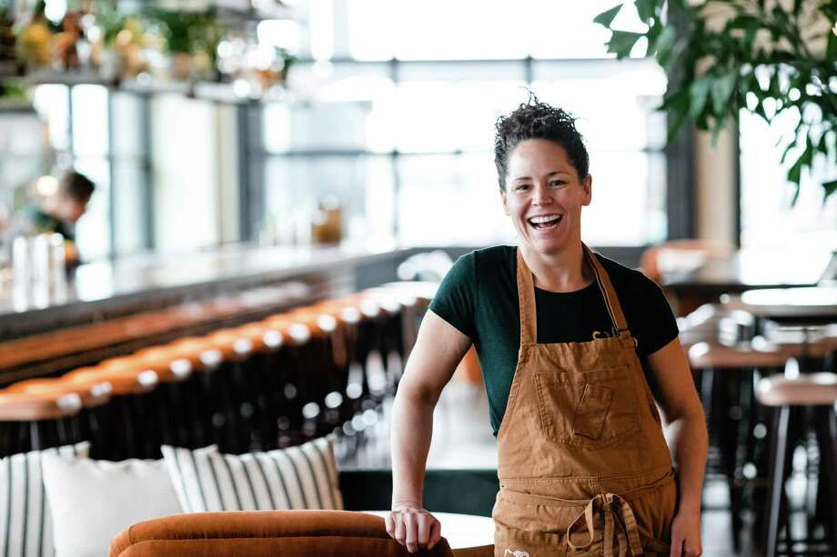 """James Beard Award-winning chef Stephanie Izard of Chicago was set to join fellow Beard winner chef Chris Shepherd for a dinner called """"A Boy, A Girl, and a Goat"""" on March 28 at the Revaire. The dinner and its Caribbean-themed afterparty were canceled due to coronavirus concerns. Photo: Grimm Photography"""