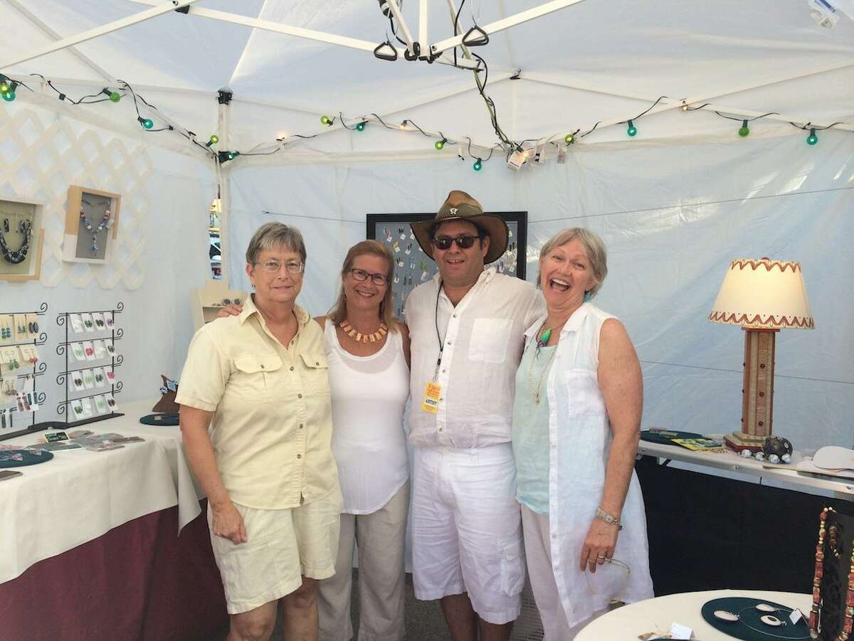 On Saturday, Feb. 29, master-planned community Cross Creek Ranch is hosting an art market with lots of activities, drinks and food on hand for the family. Here, Paula Kennedy, Betsy Fraser, Mitch Cohen and Joey Barnes pose at a past market.