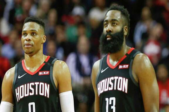James Harden and Russell Westbrook had their moments together in 2019-2020 but their salaries can complicate the Rockets' future plans.