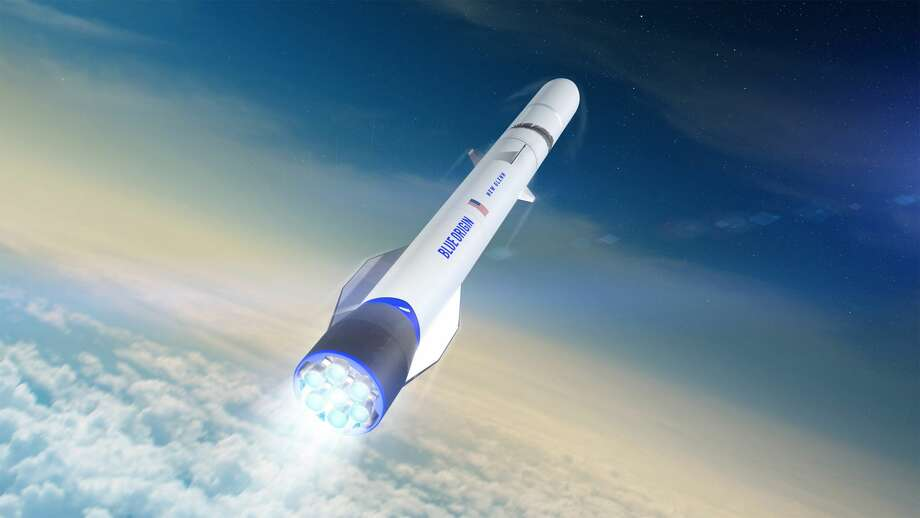 Pictured is a rendering of Blue Origin's New Glenn rocket. This rocket will use engines built at a new facility in Huntsville, Ala. Photo: Blue Origin