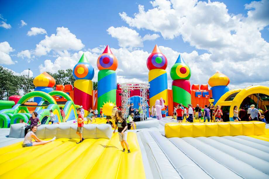 Get ready to unleash your inner kid because The Big Bounce America is bringing the world's biggest inflatable theme park to Texas. Photo: Courtesy