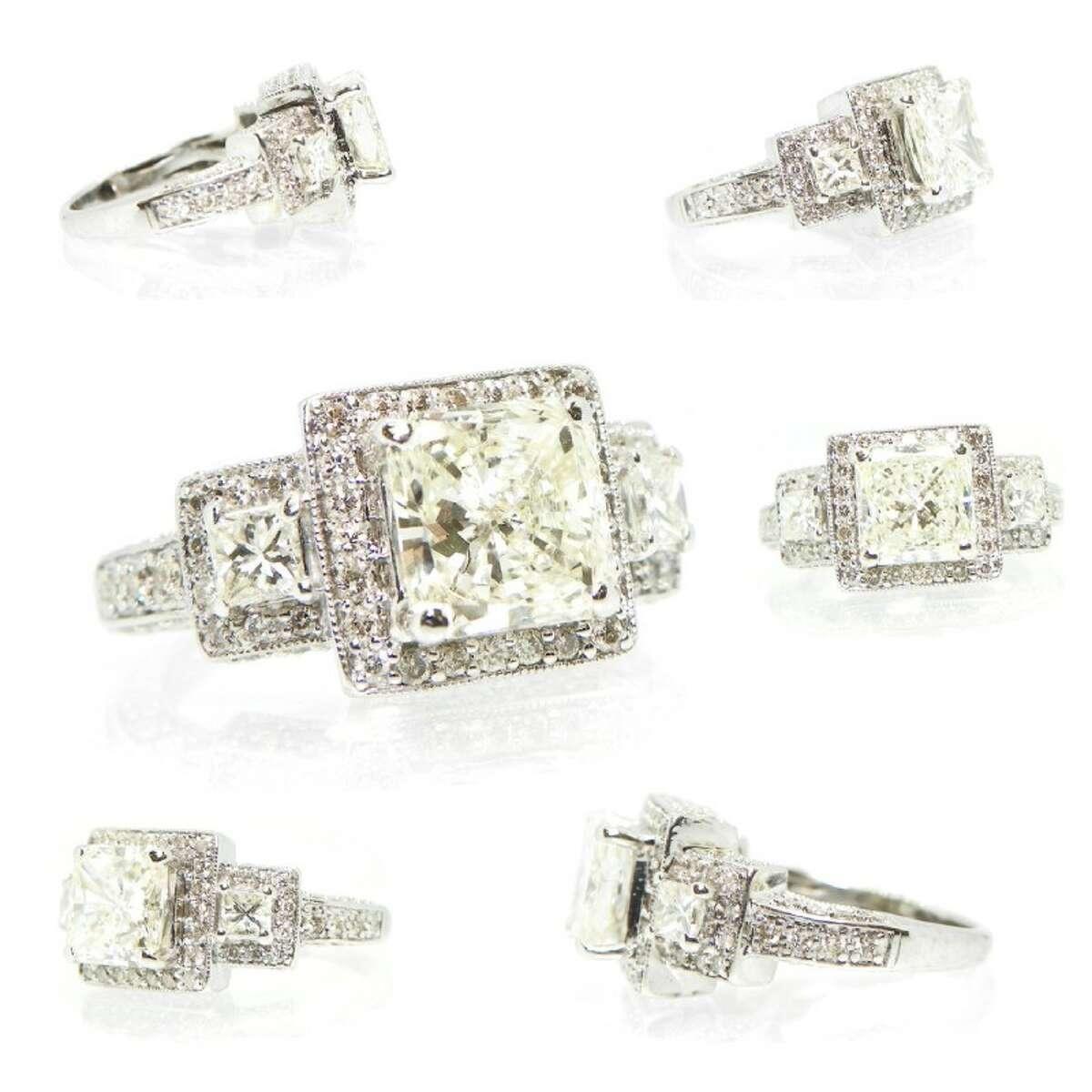 MSRP $31K+ 14K WG 2.59ctw Diamond Ring Sz 4 Price: $7,455.00