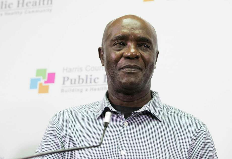 Demascus Wright, 66, says he is grateful for the treatment and recovery programs he received from Harris County Jail during a press conference introducing a new Opioid Overdose Prevention Program on Tuesday, Nov. 19, 2019, in Houston. Wright said he was addicted to opioid and had too many resources before he was arrested for heroin possession in 2017. He is happy that he got his life back after going through the program at Harris County. With a $2 million grant from the CDC, Harris County Public Health and Baylor College of Medicine are launching the new Opioid Overdose Prevention Program. Photo: Yi-Chin Lee, Houston Chronicle / Staff Photographer / © 2019 Houston Chronicle