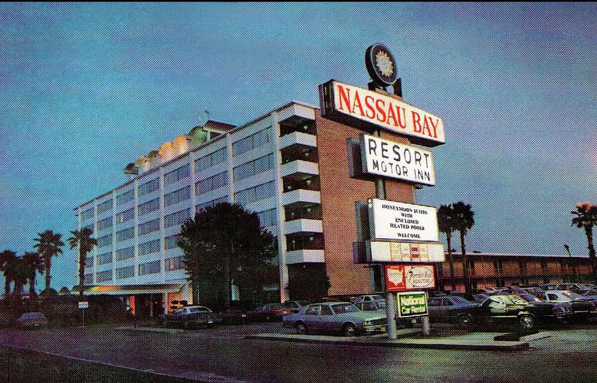 Many of the original NASA astronauts stayed in the former Nassau Bay Resort Motor Inn while they were looking for homes, according to city historian Ann Davidson. The curved areas on the top of the building housed reporters during space missions.