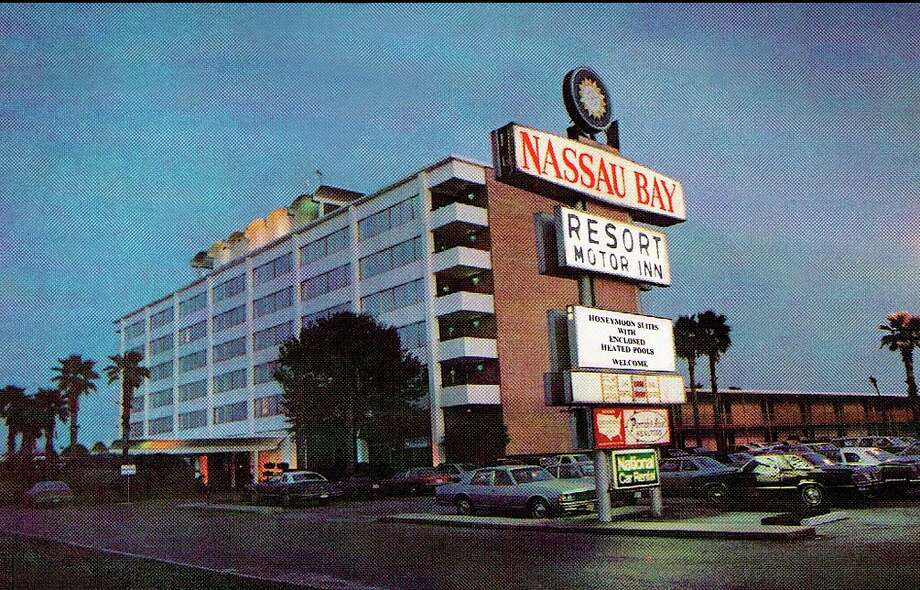 Many of the original NASA astronauts stayed in the former Nassau Bay Resort Motor Inn while they were looking for homes, according to city historian Ann Davidson. The curved areas on the top of the building housed reporters during space missions. Photo: Courtesy City Of Nassau Bay